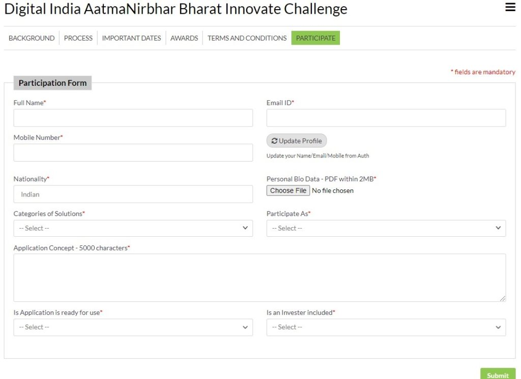 atmanirbhar bharat app innovation challenge form